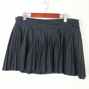 Lululemon Pleat To Street Skirt Black Skort 10